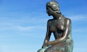 Edward Eriksen's sculpture of The Little Mermaid in Copenhagen.