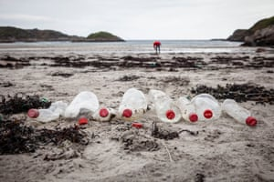 Coke Bottles Found on beach clean in Mull, Scotland