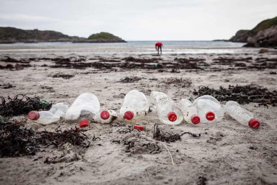 Coke Bottles Found on beach clean in Mull, Scotland