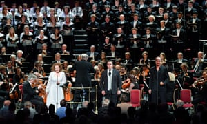 Soloists Ann Hallenberg, Michael Spyres and Laurent Naouri with the ORR and choral forces conducted by John Eliot Gardiner in The Damnation of Faust.