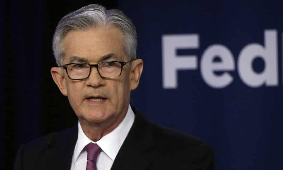 Jerome Powell speaks at a conference in Chicago, Illinois, on 4 June.