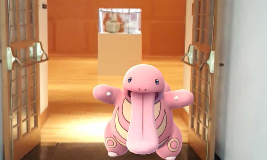 Lickitung Pokemon at Morikami museum in Delray Beach, Florida.
