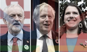 Jeremy Corbyn, Boris Johnson and Jo Swinson