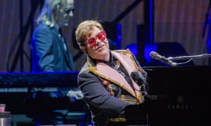 Elton John performs during his Farewell Yellow Brick Road tour at HBF Park in Perth, Australia