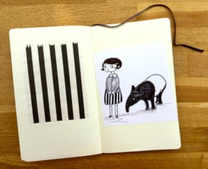 <strong>Clara says:</strong> <br>'A tapir and a child-companion?' suggested Polly. <br> I felt a tingling of excitement and rushed to sketch something. I sent it over to her. <br>'Does this inspire you at all?' <br>A short while later the most wonderful stories arrived and I knew we were onto something special. <br> By the time I was drawing Mango and Bambang 'in neat'…