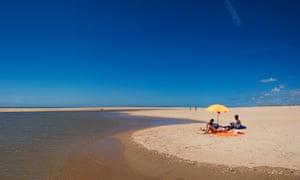 View of Arrow Beach, El Rompido, Huelva, Andalucía