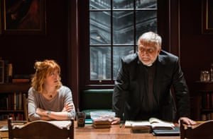 Rebecca Humphries and Simon Russell Beale in Temple , 2015