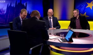 Tim Farron, Paul Nuttall and Jonathan Bartley are interviewed by Andrew Neil.
