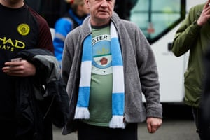 Manchester City fan at the Riverside for the FA Cup quarter-final v Middlesbrough