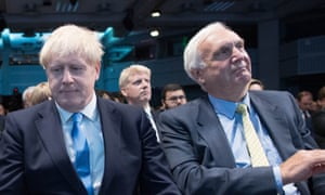 Sir Edward Lister, right, as Boris Johnson's victory in the Conservative leadership race was announced on Tuesday.