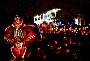 Halloween decorations in Croton-on-Hudson, New York