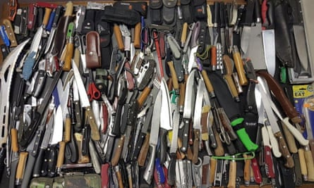Knives seized by police in London during a week-long operation in 2017