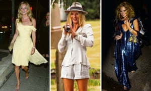 L to R: Kate Moss in 2003; at Bobby Gillespie's wedding, 2006; at her 30th birthday party, 2004 – 'It was themed The Beautiful and Damned. The day after, I learned that Britt Ekland had owned it previously and wore it to a Bond premiere.'