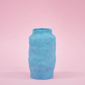 Blue vase, €90, by Siup Studio
