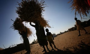 Refugees from Darfur in the Sudanese refugee camp run by the NGO Eastern Chad in Gaga, near the border with Darfur.
