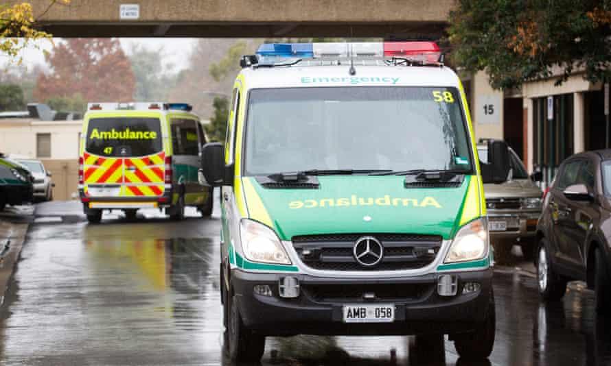 An ambulance at Royal Adelaide hospital