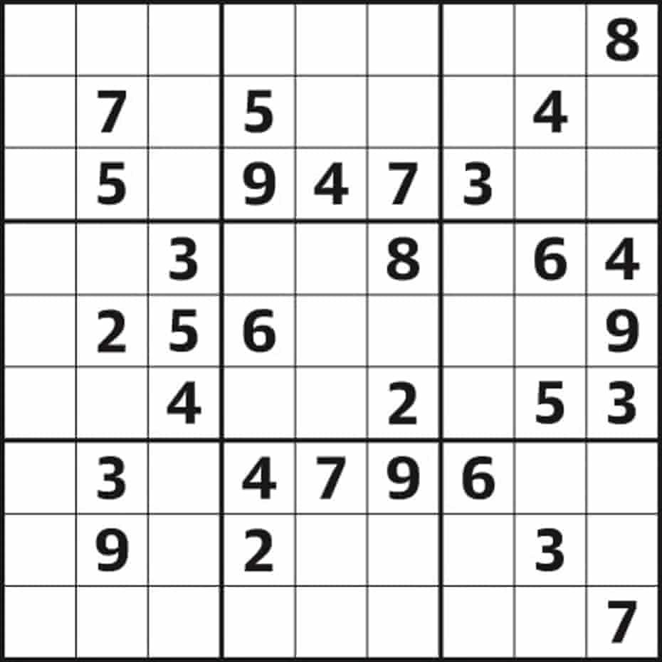 Sudoku 5,322 easy