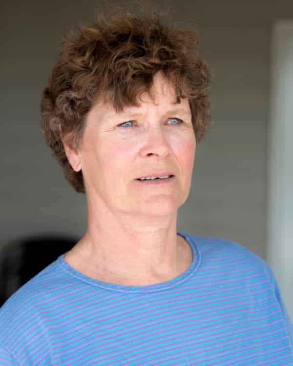 Phillips County, MT: Vicki Olson, 63, on her porch at her home in Phillips County, Montana.