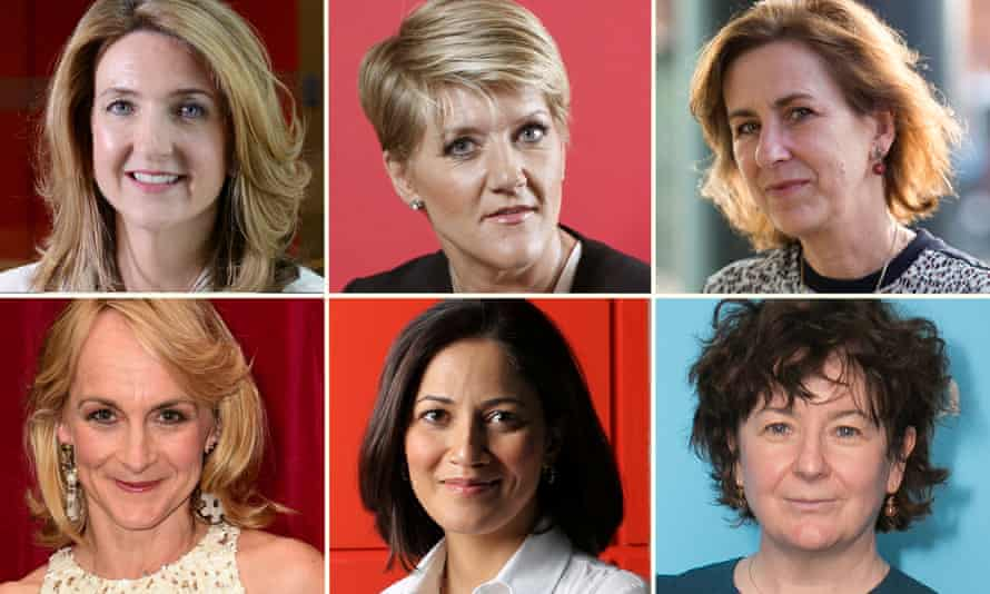 Composite of female BBC presenters