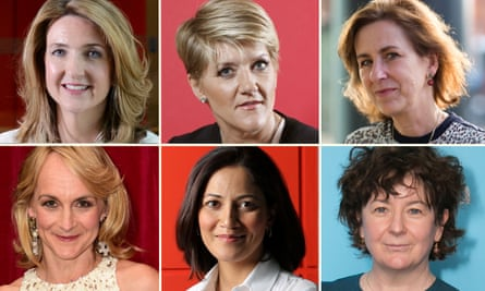 (Top row left to right) Victoria Derbyshire, Clare Balding and Kirsty Wark. (Bottom row) Louise Minchin , Mishal Husain and Jane Garvey