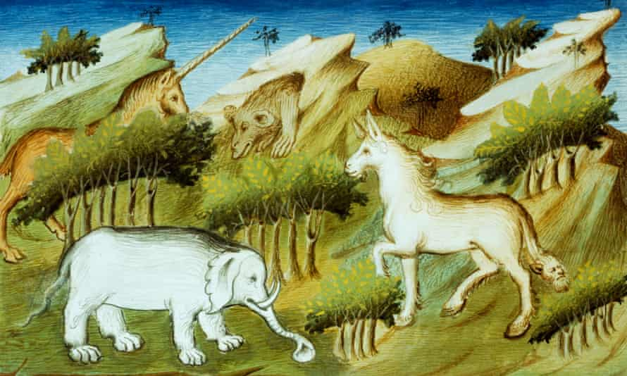 A unicorn appears in the 15th century Livre des merveilles du monde (Book of the Wonders of the World) by Marco Polo and Rustichello