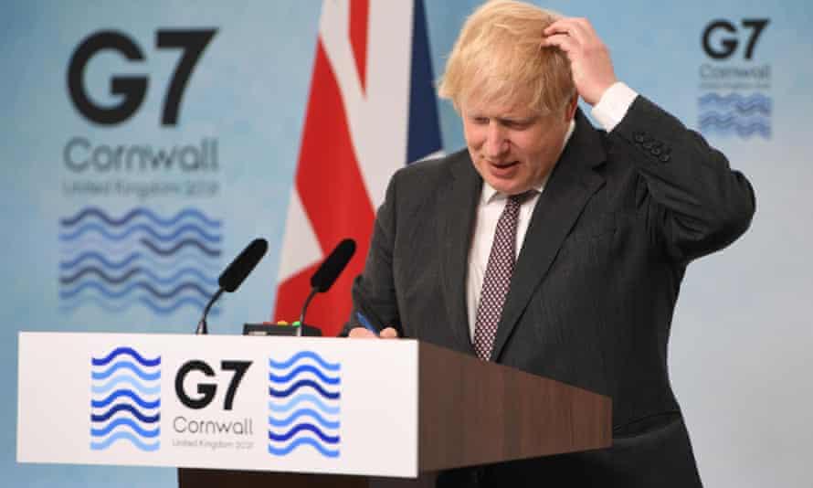 Boris Johnson at the G7 summit