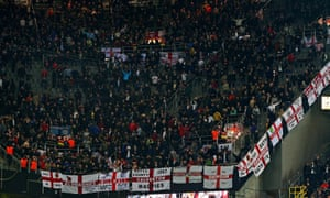 England fans at the friendly against Germany in Dortmund on Wednesday.