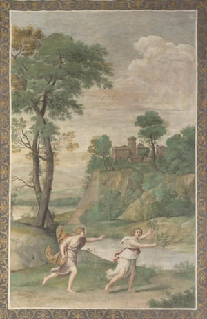 Apollo pursuing Daphne (from the Villa Aldobrandini), 1617-1618, by Domenichino.