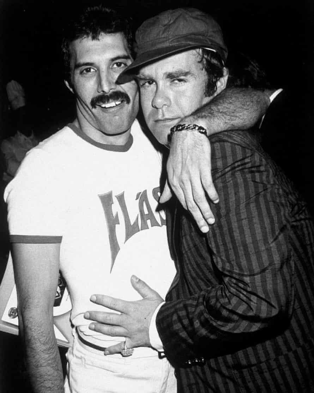 With Freddie Mercury in 1980.