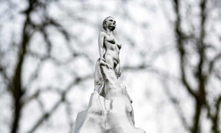 The Mary Wollstonecraft statue on Newington Green, in Islington, north London