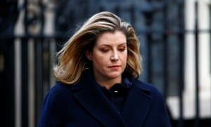 Penny Mordaunt leaving Number 10 this mornig.