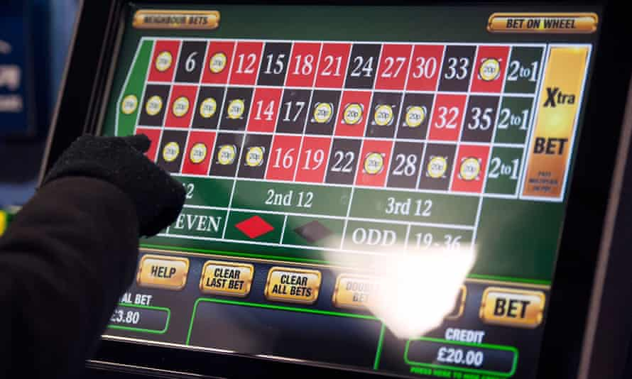 Someone using a fixed-odds betting terminal