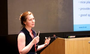 Emma Bull, Schools Programme Manager at the British Library, introduces the learning programme before delegates visit the Writing: Marking Your Mark Exhibition at the library
