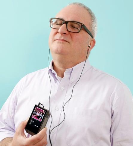 Jonathan Margolis enjoying his expensive audio equipment.