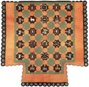 Paul family quilt, late 1830s, South Solon, Maine