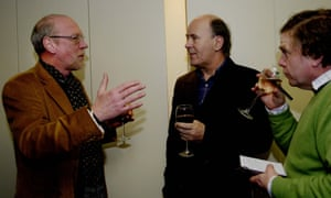 Paul Evans (left) talking to John Vidal (centre), former environment editor, and Martin Wainwright (right), former northern editor, at a celebration of 100 years of the Guardian's Country Diary in January 2007