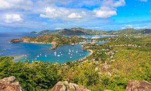 View of Antigua Bay, from Shirley Heights, Antigua.