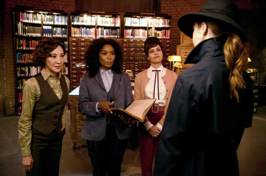 With Michelle Yeoh and Carla Gugino in Gunpowder Milkshake.