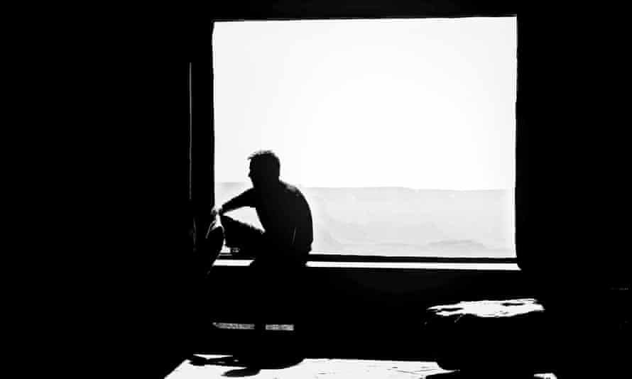 Silhouette Man In Front Of Window