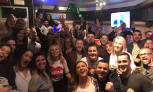 The event at the Baby Bear Bar in Baby Bear Bar in Darlinghurst that celebrated Ireland's landslide vote to legalise abortion