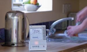 Smart meter in a kitchen