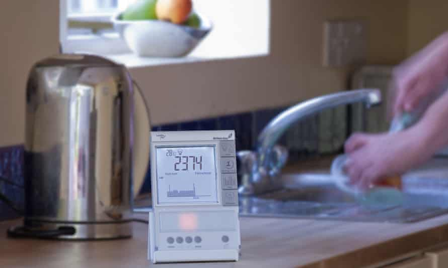 Smart meter in a kitchen