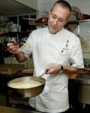 'He tells me it's a tricky dish, but agrees': Michel Roux Jr, master of the soufflé suissesse.