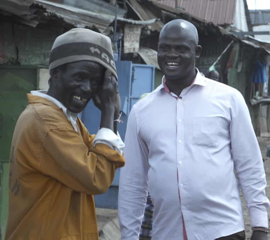 Ex-gang disciples Jonah Savimbe and George Okewa in Kibera, Nairobi, Kenya