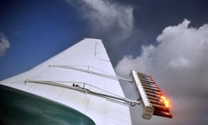 Rain enhancement research in the UAE. Flares loaded with tiny particles of potassium chloride and sodium chloride are fired from planes into the clouds.