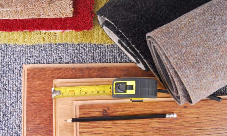carpet with tape measure