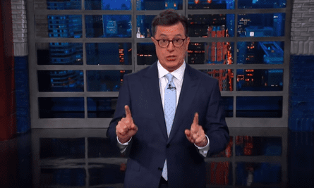 Stephen Colbert: 'Trump has to completely distance himself from anything Russian.So today the White House announced he'll be meeting with Vladimir Putin on July 16.'