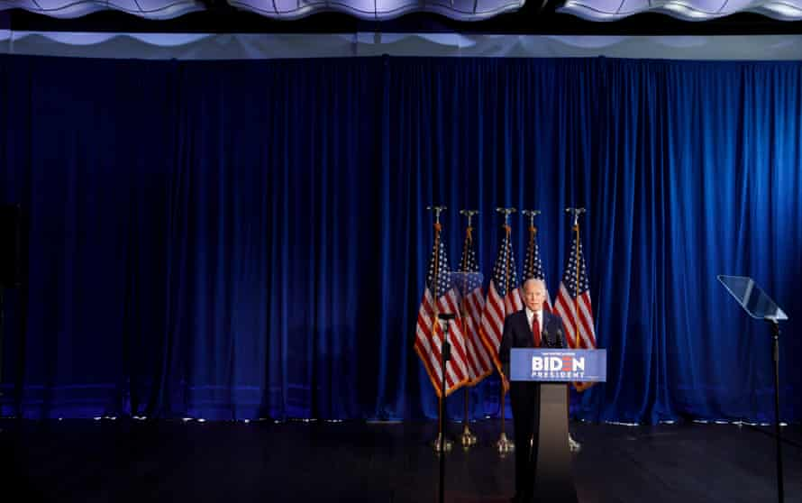 Joe Biden makes a foreign policy statement on 7 January.