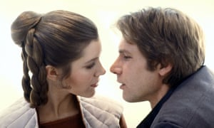 Carrie Fisher and Harrison Ford in The Empire Strikes Back