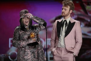 Billie Eilish and brother Finneas O'Connell won record of the year